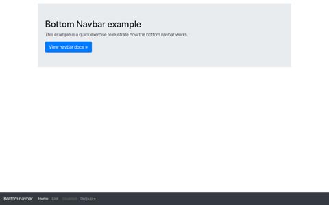 Navbar bottom screenshot