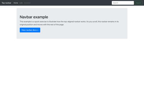 Navbar static screenshot