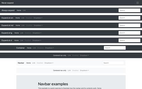 Navbars screenshot
